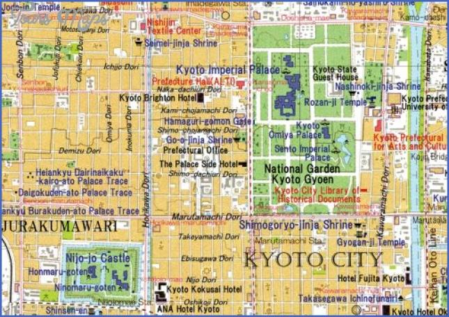 map of kyoto japan  7 Map Of Kyoto Japan
