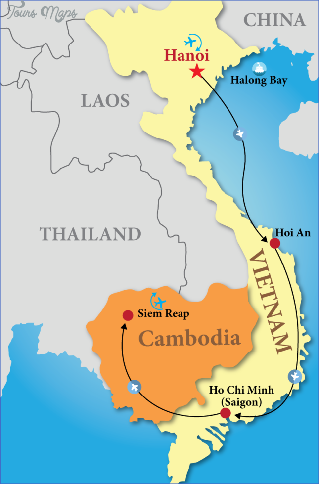 map of vietnam and cambodia  13 Map Of Vietnam And Cambodia