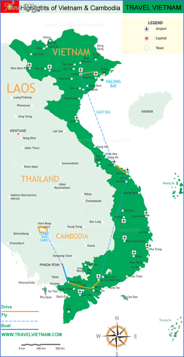 map of vietnam and cambodia  7 Map Of Vietnam And Cambodia
