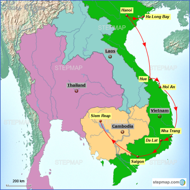map of vietnam and cambodia  9 Map Of Vietnam And Cambodia