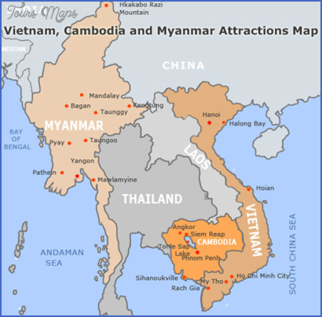 map vietnam cambodia siem reap cambodia map  1 Map Vietnam Cambodia   Siem Reap Cambodia Map