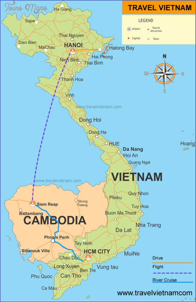 vietnam cambodia map vietnam and cambodia map  7 Vietnam Cambodia Map   Vietnam And Cambodia Map