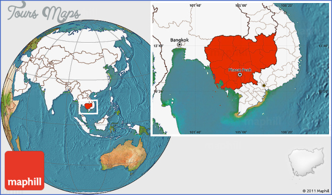 where is cambodia located on the world map Where Is Cambodia Located In The World Map Toursmaps Com where is cambodia located on the world map