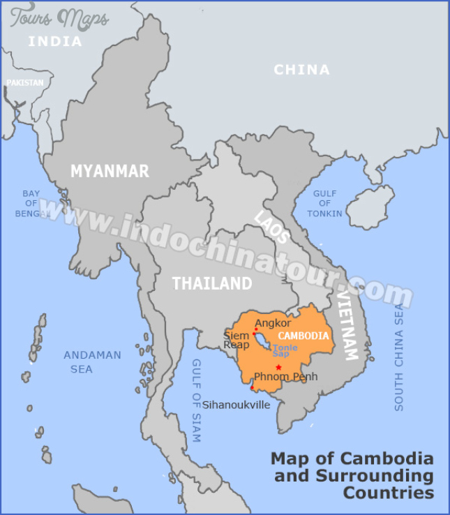 Where Is Cambodia Located On A World Map - ToursMaps.com ®