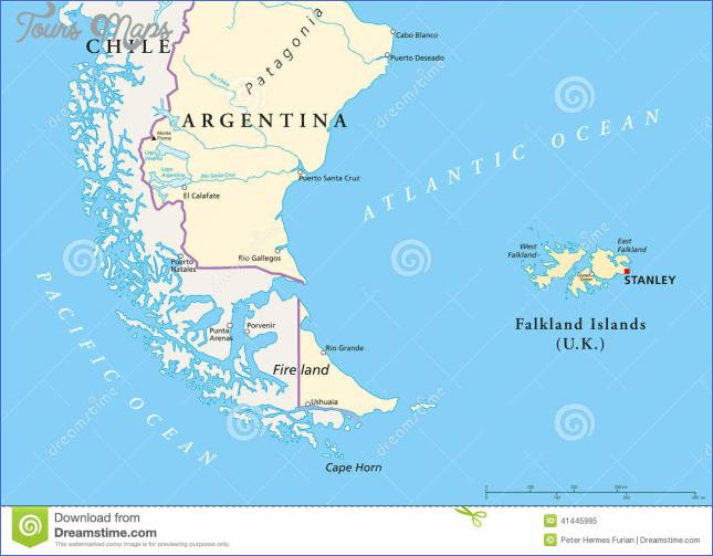 Falkland Islands Policikal Map Stock Vector