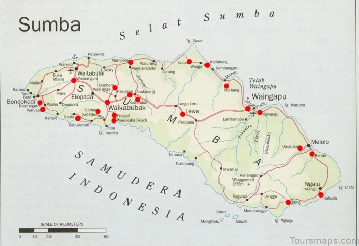 map of sumba island indonesia1 Map of Sumba Island, Indonesia