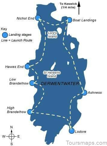 derwent water map swimming guide4