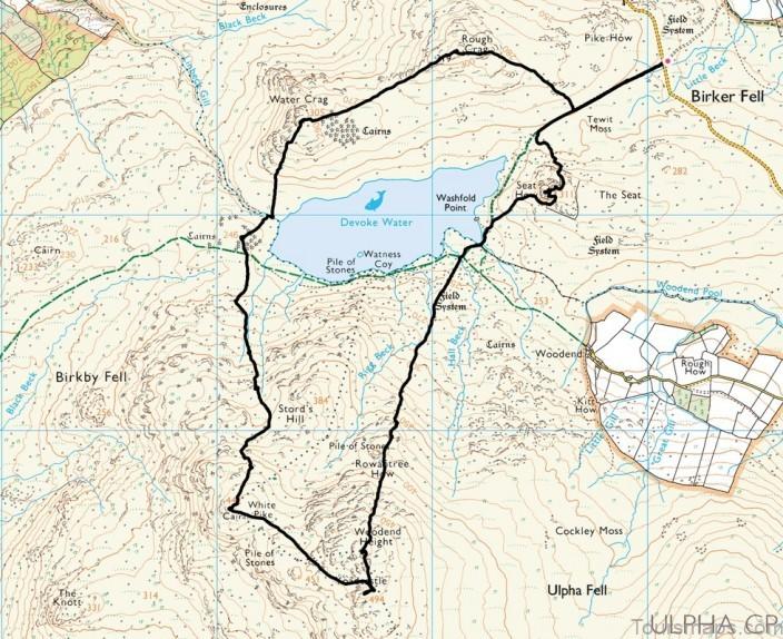 devoke water map devoke water visit cumbria 1 Devoke Water Map   Devoke Water   Visit Cumbria