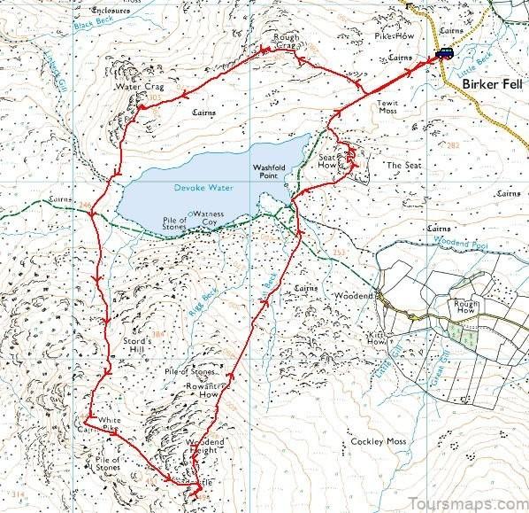 devoke water map devoke water visit cumbria Devoke Water Map   Devoke Water   Visit Cumbria
