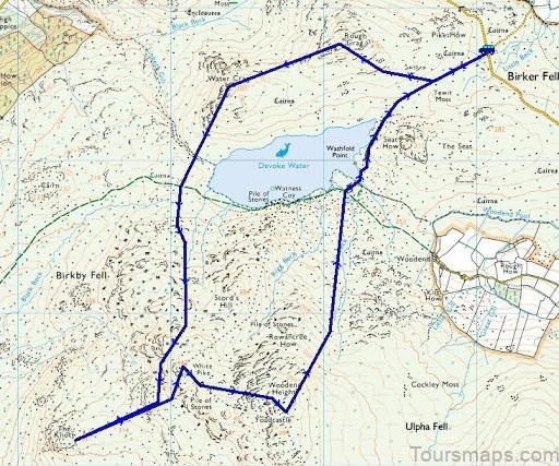 devoke water map devoke water visit cumbria4 Devoke Water Map   Devoke Water   Visit Cumbria