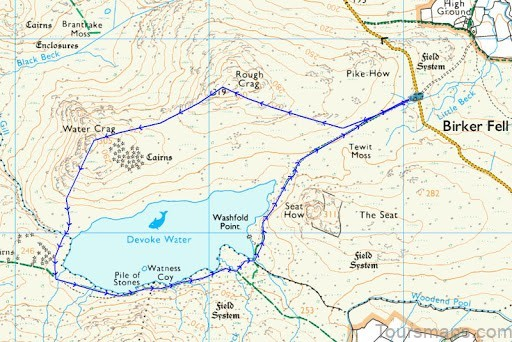 devoke water map devoke water visit cumbria6