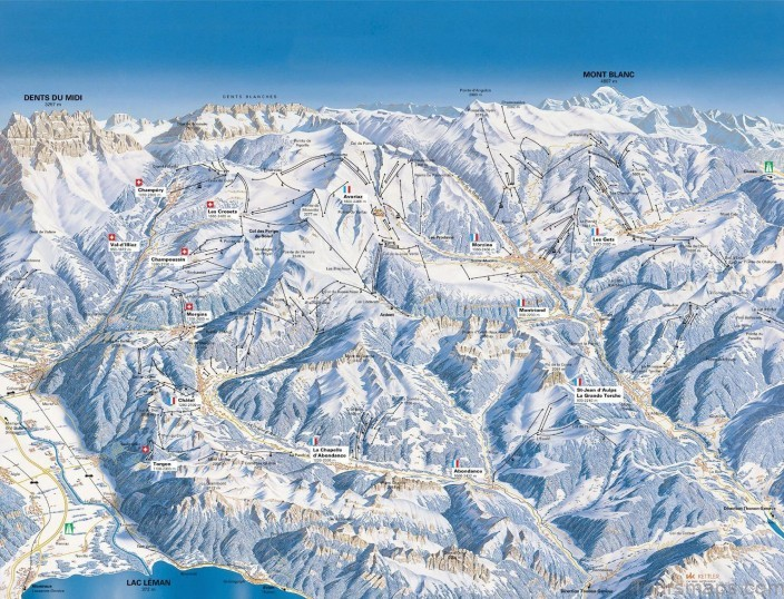 french alps map travel map for the french alps French Alps Map | Travel Map for the French Alps