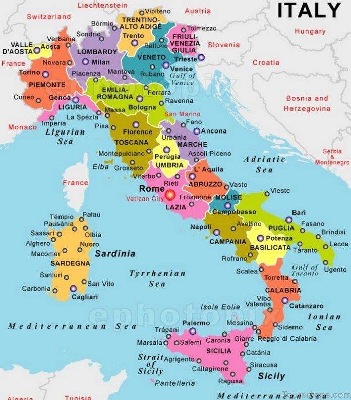italy map where to stay in italy Italy Map   Where To Stay In Italy?