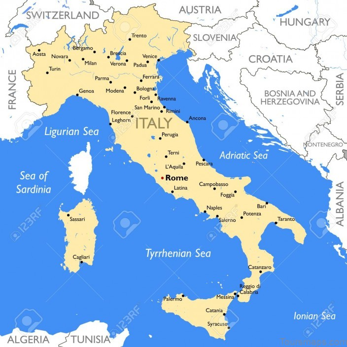 italy map where to stay in italy1 Italy Map   Where To Stay In Italy?