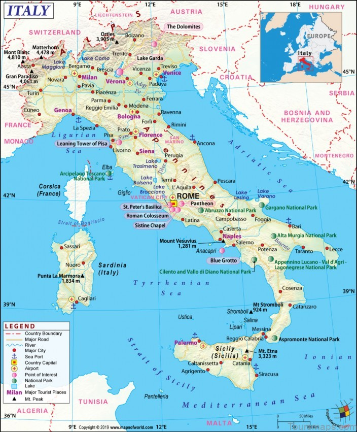 italy map where to stay in italy2 Italy Map   Where To Stay In Italy?