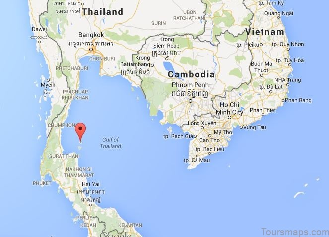 thailand map for muay thai1 Thailand Map for Muay Thai