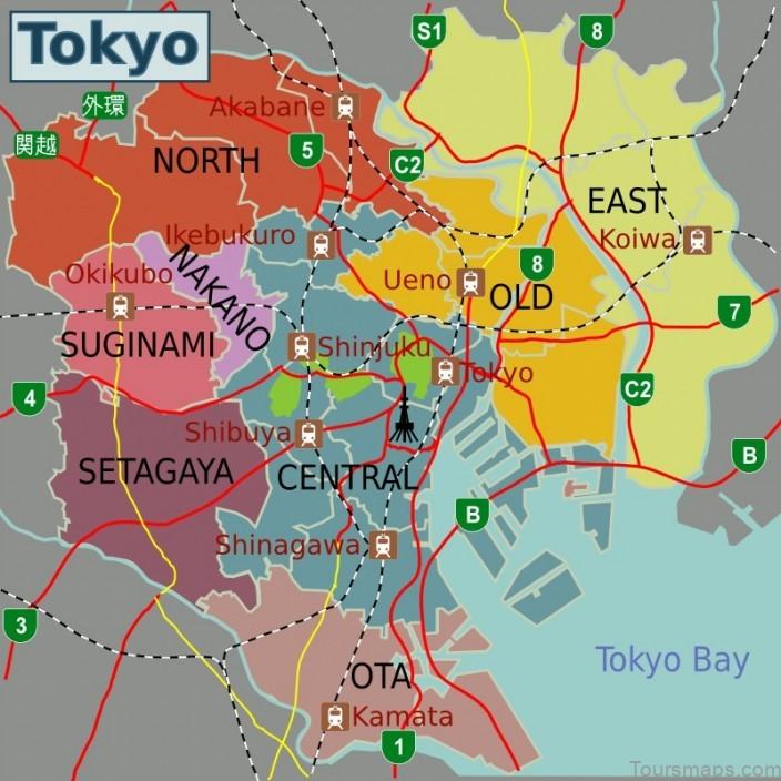 tokyo map tokyo city guide 3 Tokyo Map   Tokyo City Guide