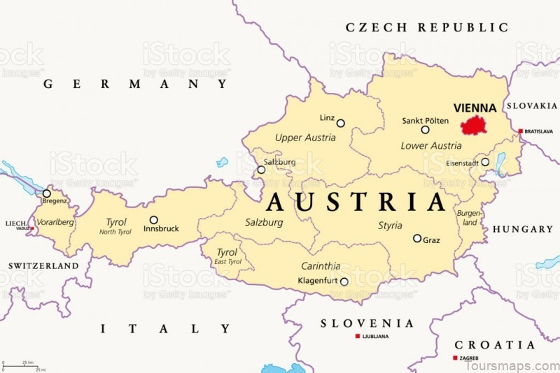 %name Austria Map Political   Google Map of Vienna, Austria