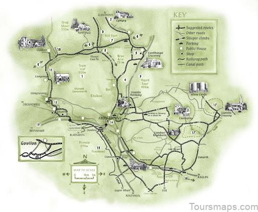 map of abergavenny abergavenny guide1