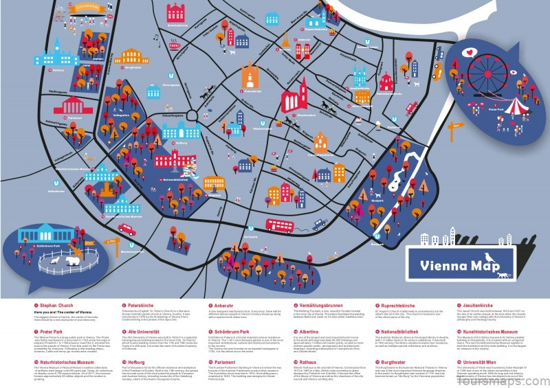 map of vienna holiday in vienna Map of Vienna   Holiday in Vienna