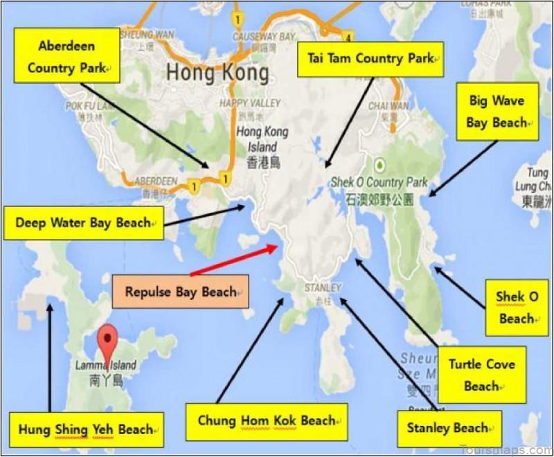 %name Repulse Bay Beach Map The Best Beach in Hong Kong China