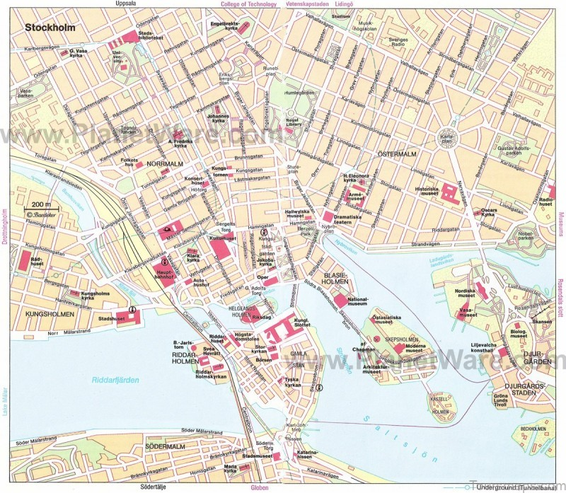 venice maps tourist attractions streets subway stockholm map